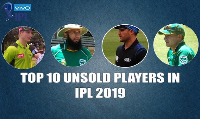 Top 10 Unsold Players in IPL 2019