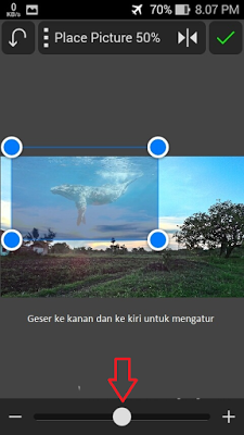 Cara Edit Photo Dengan Backround Ikan di Langit Menggunakan Android
