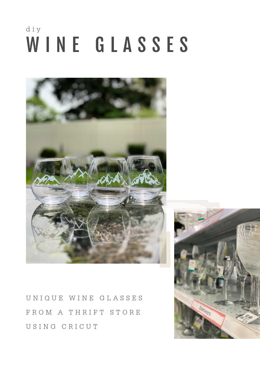 TRANSPARENT VINYL ON WINE GLASS