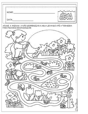 Atividades de alfabetização, Datas comemorativas, Dia da água,