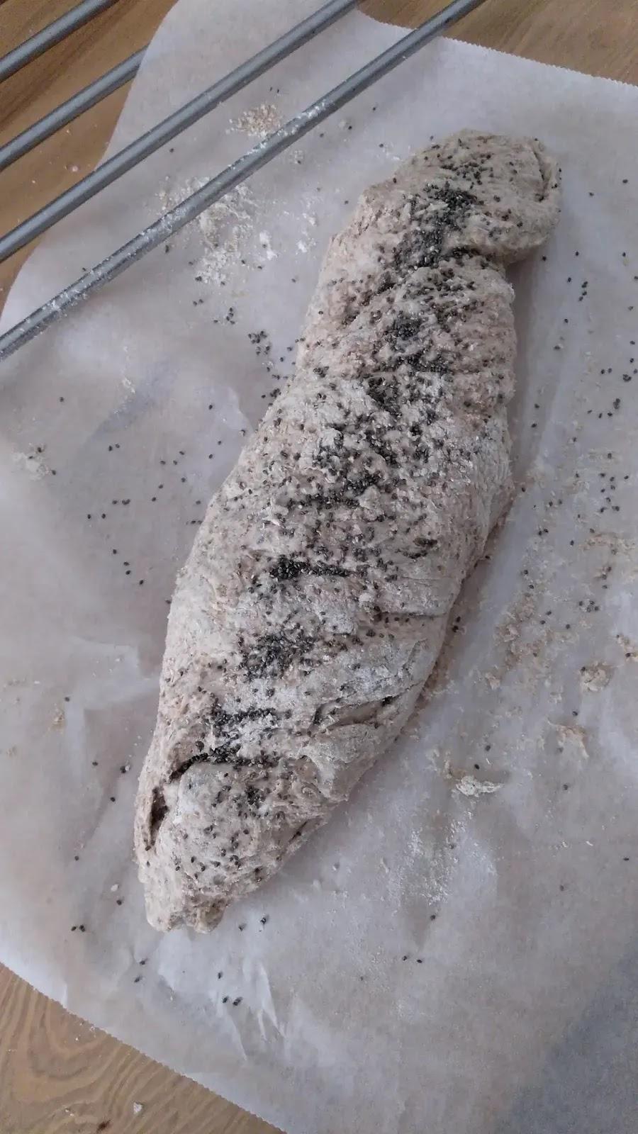 pan integral listo para hornear