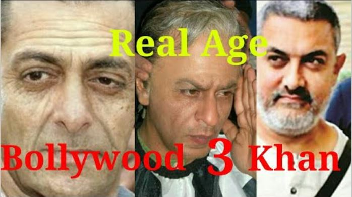 salman shahrukh and aamir khan real age