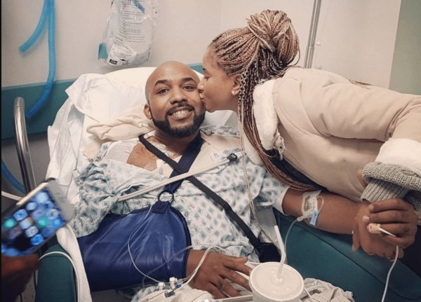 Photos: Banky W Successfully Undergoes Surgery To Remove Skin Cancer Tumours