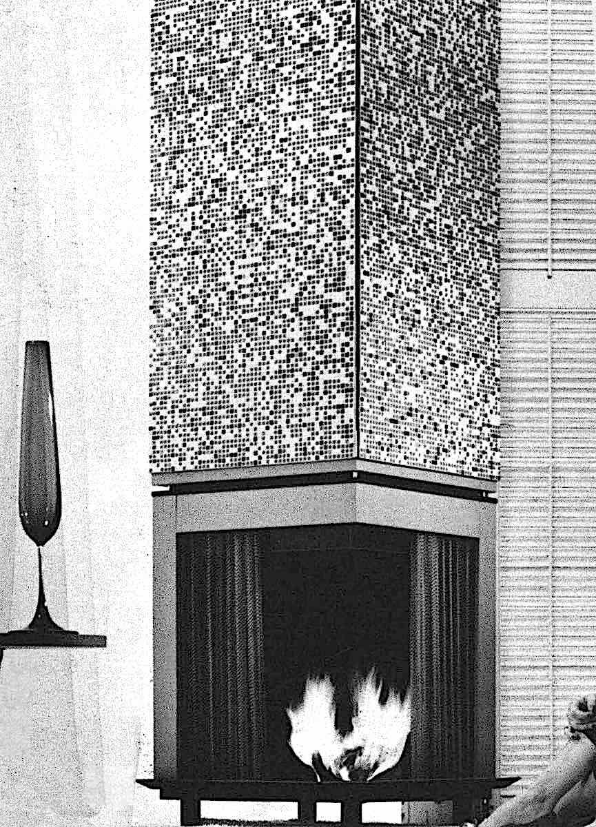 a 1963 modern fireplace
