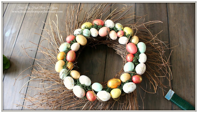From My Front Porch To Yours- Easter Wreath-Tutorial-Target Wreath