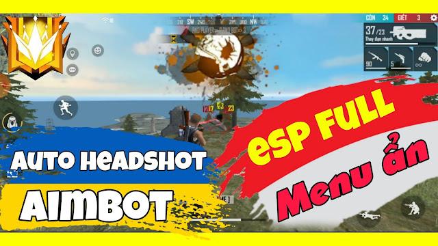 Mod menu ẩn free fire ob29 | Auto headshot, aimbot esp full rank working