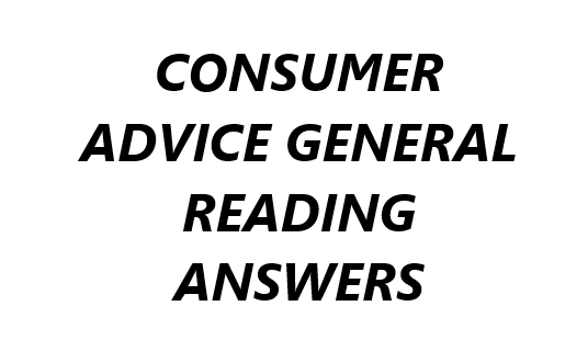 CONSUMER ADVICE READING ANSWERS