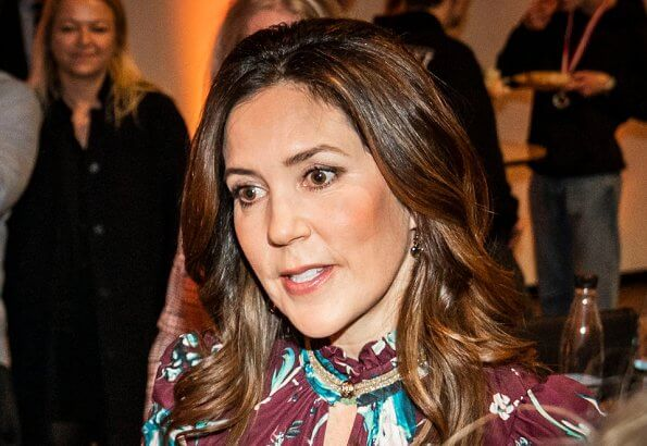 Crown Princess Mary of Denmark attended Media Contest 2020 (Mediekonkurrencen) awards ceremony at JP/Politikens Hus