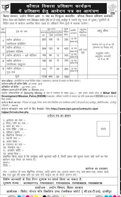 Application for Kaushal Vikas Training
