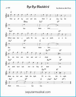 chord bye bye blackbird lagu jazz standar