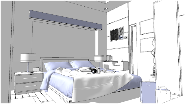 sketchup model beedroom #3