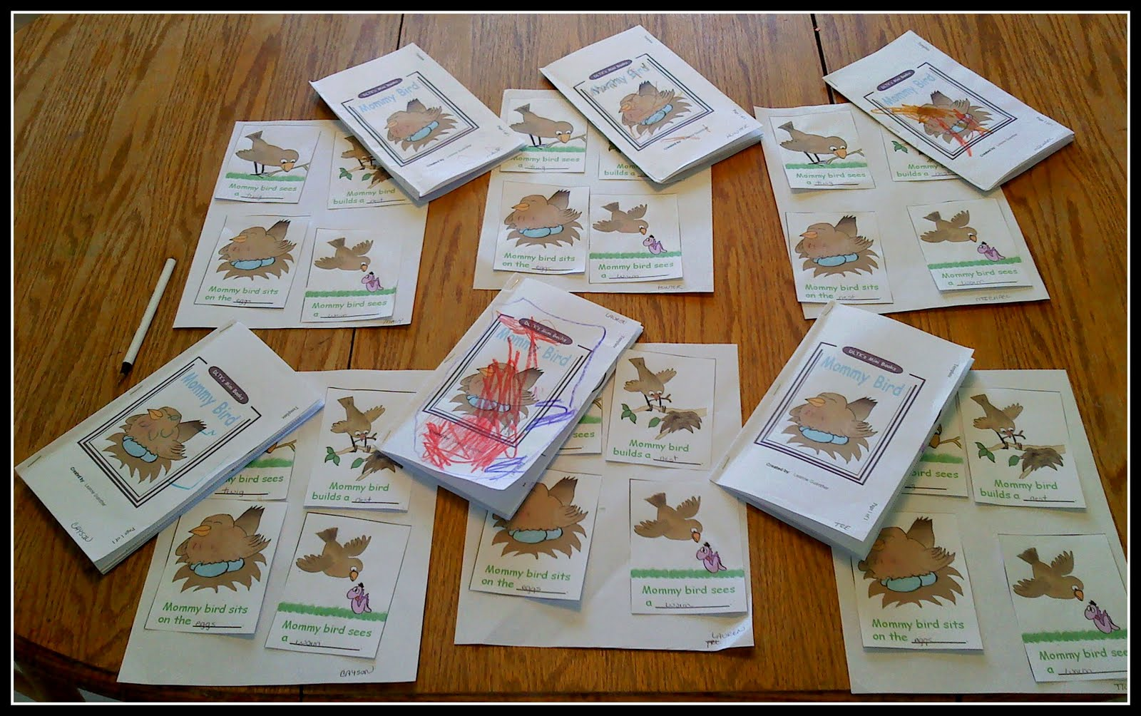 The Walnut Acre Chronicles Mommy Bird Book And Sequencing Activity