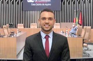 Em Guarabira vereador Ramon Menezes disponibiliza Whatsapp (98899-5761) para interação com o povo
