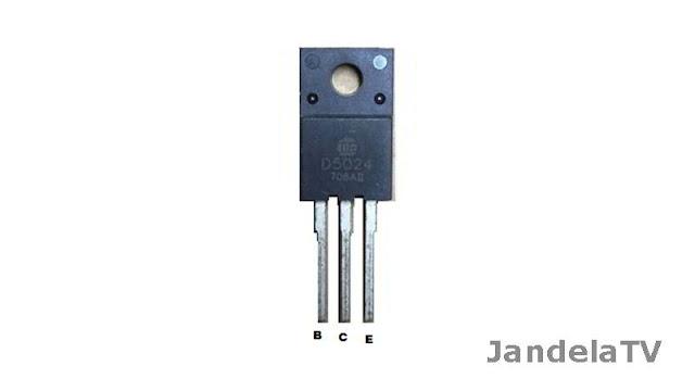 merupakan salah satu unsur yang seringkali didapatkan pada TV polytron slim atau TV china Persamaan Transistor D5024 (Horizontal) Terlengkap
