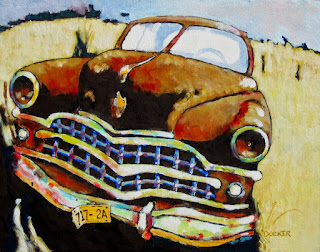 car paintings | rusty old cars | bruce docker