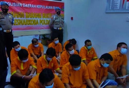 Polda Kepri Musnahkan Belasa Ribu Eksatasi dan 1,4 Kg Sabu