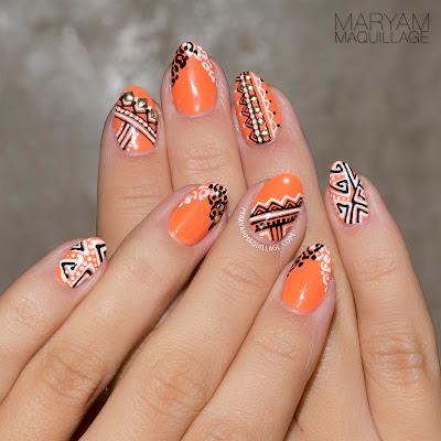 "maryam maquillage ""tribal lace"" summer nail art"