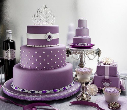 Purple Wedding Cake Ideas: Wedding Cakes Pictures: Albert Uster Amethyst Fondant