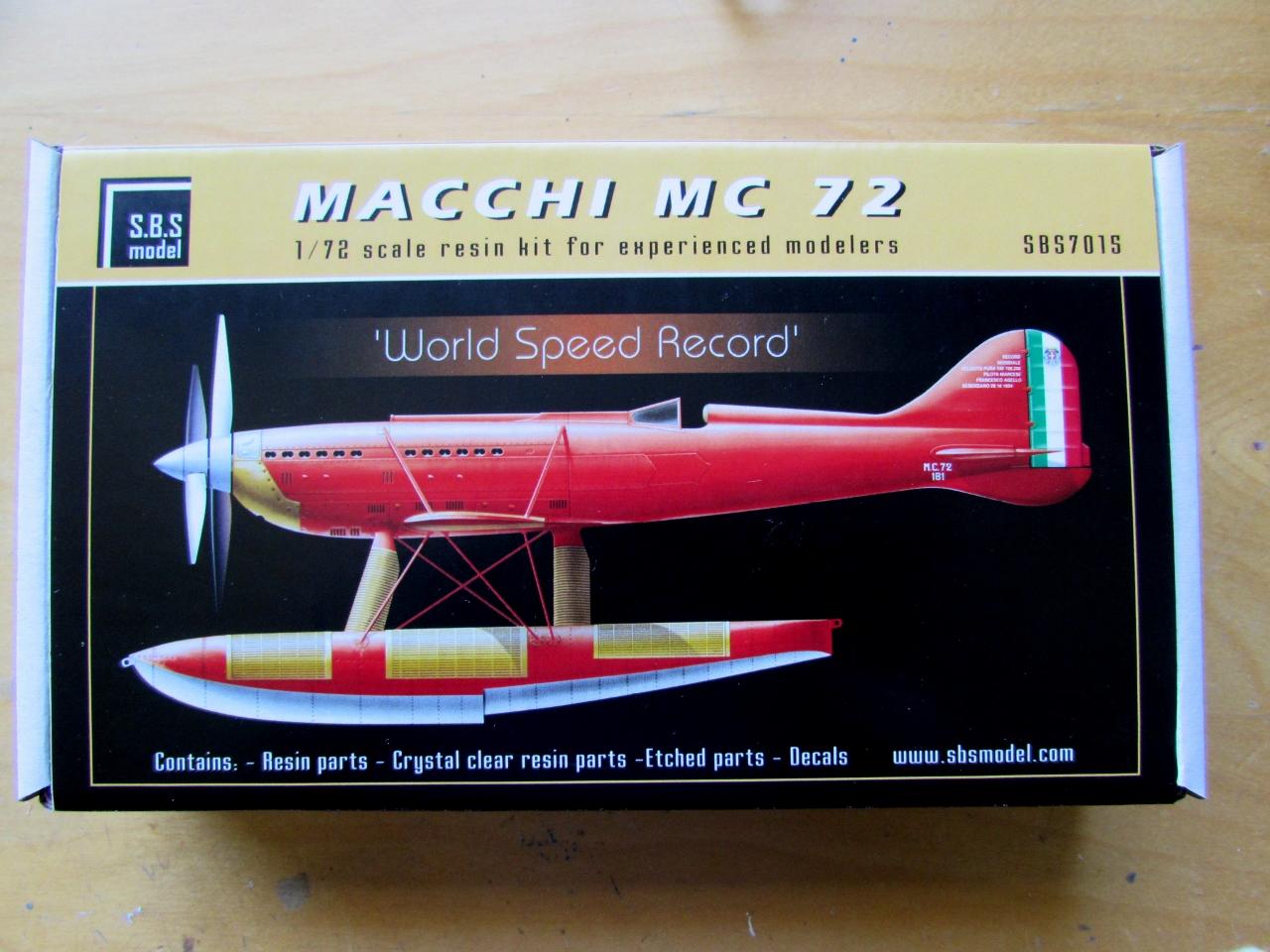 Macchi MC 72 Bracing Wire Set S.B.S Modèles SBS-72042 1:72