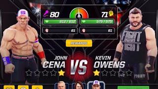 لعبة مصارعة اون لاين WWE Mayhem مجانية للاندرويد مع أقوى واشهر المصارعين والمصارعات