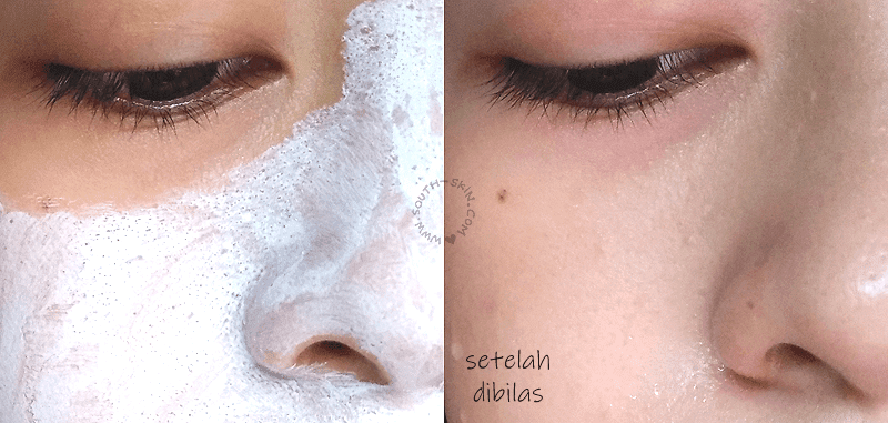 before-after-wardah-lightening-facial-mask