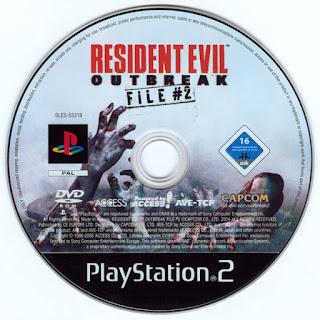 CD ROM Resident Evil Outbreak File 2 PS2 2004 jogo sem vírus