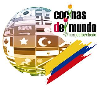 Logo de cocinas del mundo en primavera para Colombia. ©margacibecheria