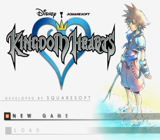 Kingdom Hearts PAL title screen