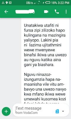 Majibu ya swali la msomaji wetu