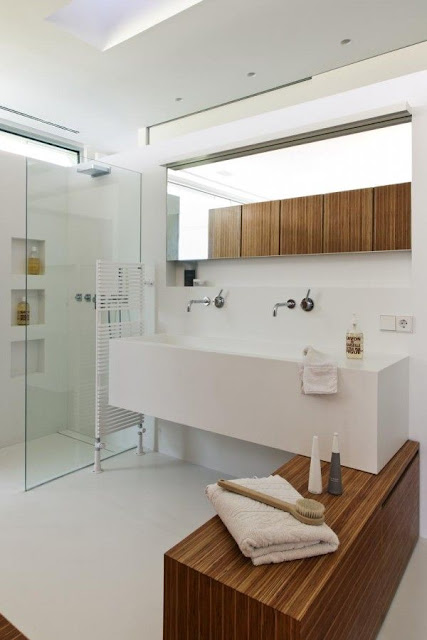 Modern Simple Big Basin In Bathroom Design Kerala