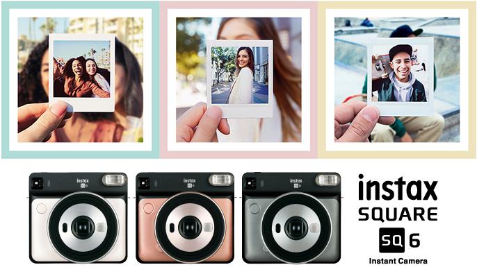 Примеры снимков и три разных цвета камеры Fujifilm Instax Square SQ6