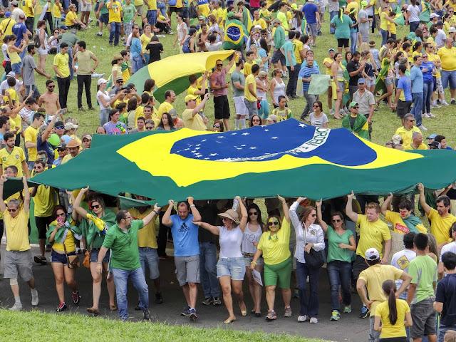 Deputado Federal Coronel Chrisostomo acompanhou de perto a manifestação em  Brasília