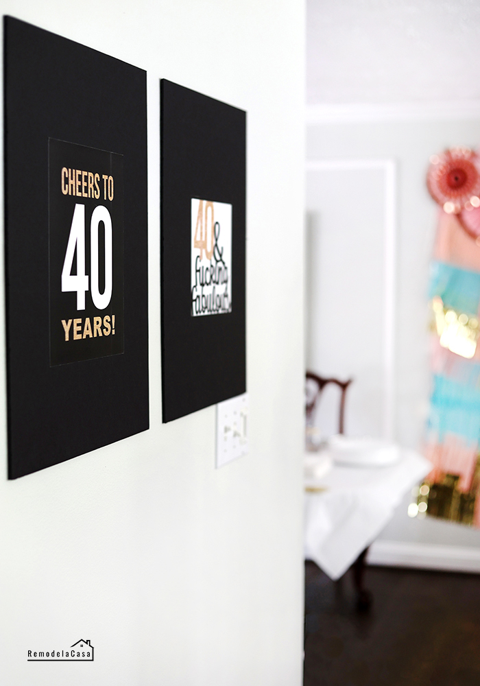Birthday party decor signs