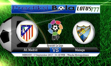 Prediksi Pertandingan antara Atl. Madrid vs Malaga Tanggal 17 September 2017