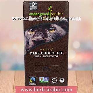 شوكولاة داكنة طبيعية بفواكه حقيقية