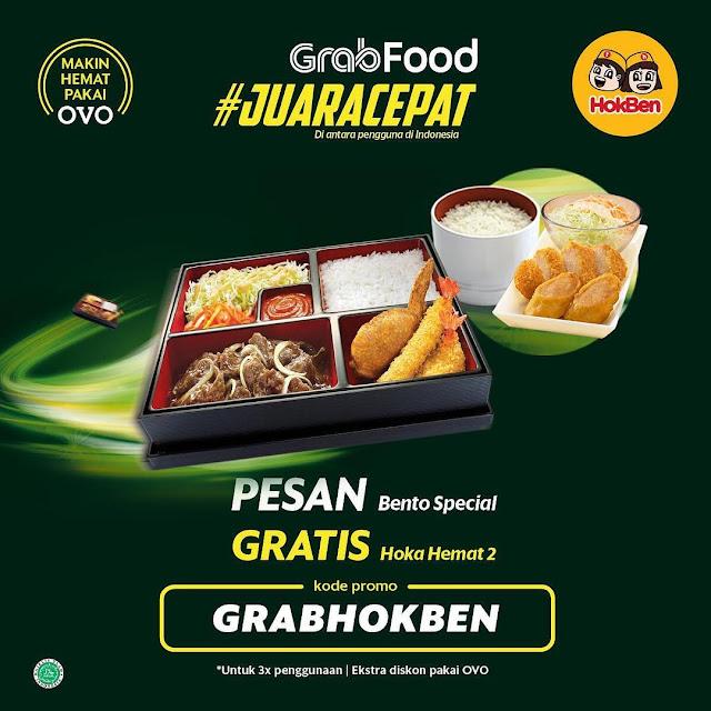 #Hokben - #Promo Order Bento Special GRATIS Hoka Hemat 2 Pakai Grab Food (s.d 14 April 2019)