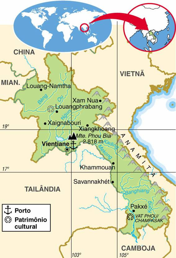LAOS, ASPECTOS GEOGRÁFICOS E SOCIOECONÔMICOS DO LAOS
