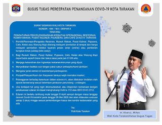 Surat Edaran Wali Kota Tarakan No. 556/183/DISPAR.II - Tarakan Info