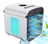 Logo Vinci gratis un raffreddatore d'aria portatile ricaricabile Hisome a 3 velocità