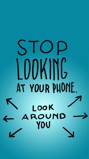 Stop Smartphone Addiction Motivational Mobile Phone Wallpaper