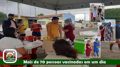 Mais de 70 pessoas vacinadas em um dia