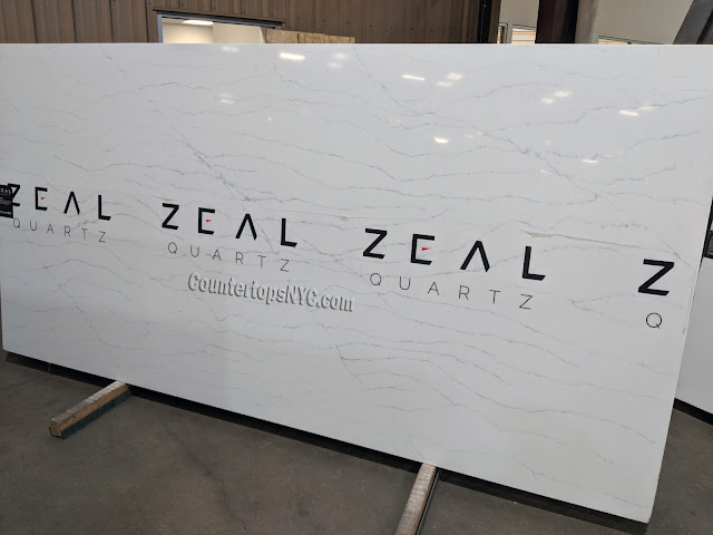 Zeal White Quartz Gatsby NYC