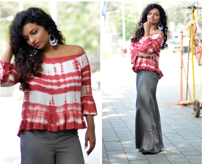 summer fashion indian fashion blogger tie dyes off shoulder tops