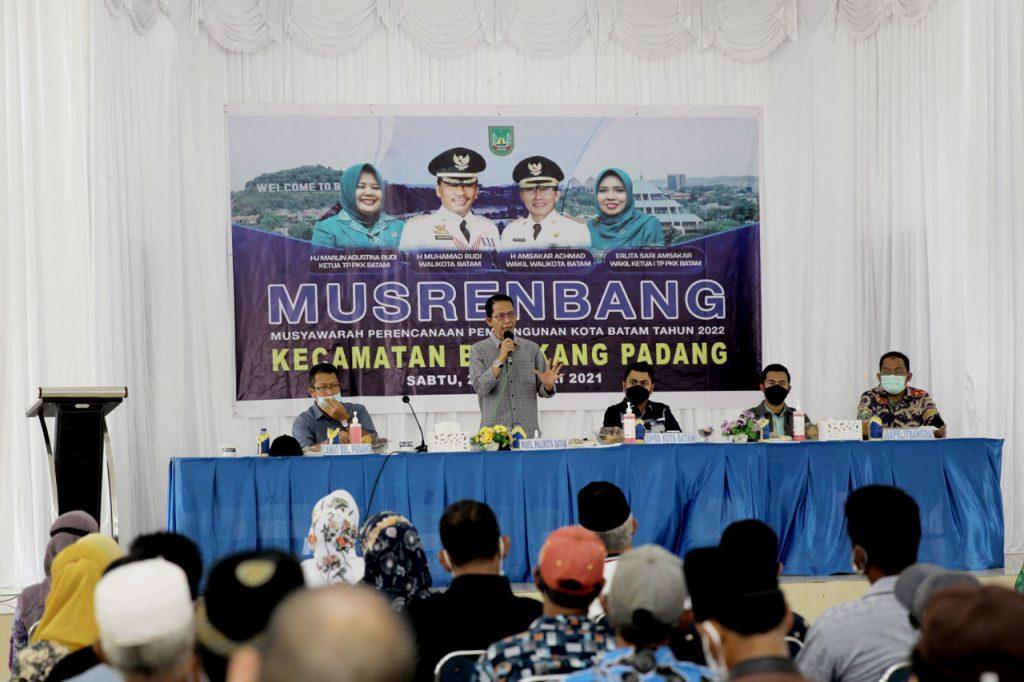 Buka Musrenbang di Kecamatan Belakangpadang, Amsakar : Kami Akan Perbaiki dulu Situasi Fisik Daerah Ini