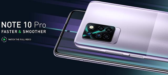 سعر ومواصفات Infinix Note 10 Pro المميز بشحن 33 W