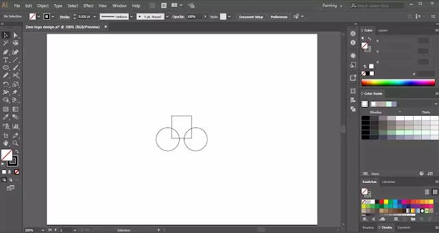 Deer-Logo-in-illustrator-tutorial