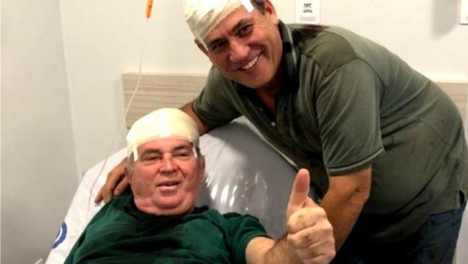 CABEÇAS DURAS: Lebrão e Maurão batem cabeças em acidente com trator