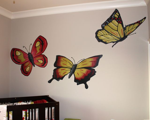 Stivers Art Butterfly Nursery Mural