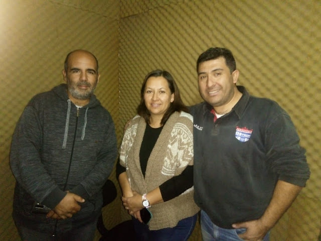 Pastor Julio Gonzalez junto a Sandra Gonzalez en FM CASBAS