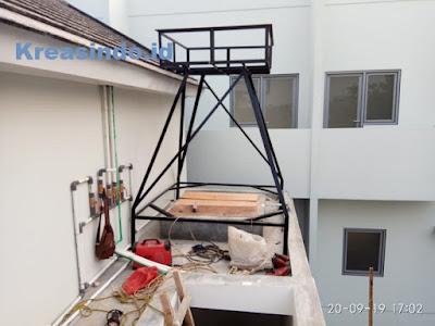 Repeat Order pembuatan Menara Air Besi oleh Bpk Sony di BSD Tangerang